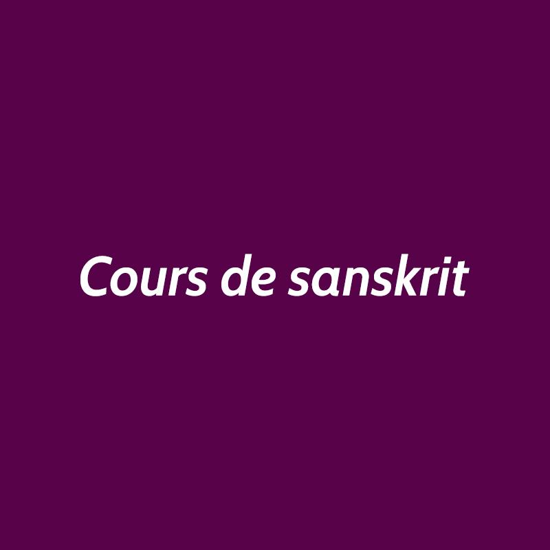 cours de sanskrit EFY Paris